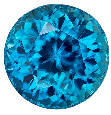Real Blue Zircon Gemstone, Round Cut, 8.79 carats, 10.9 mm , AfricaGems Certified - A Super Great Buy