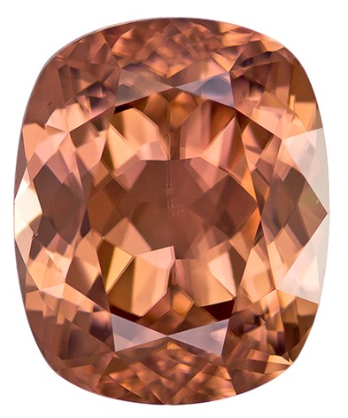 Real Brown Zircon Gemstone, Cushion Cut, 5.62 carats, 10.5 x 8.6 mm , AfricaGems Certified - A Low Price
