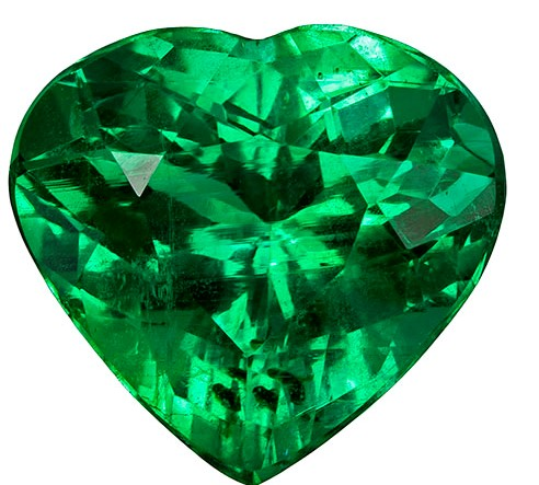 Real Vibrant Emerald Gemstone, Heart Cut, 2.85 carats, 9.8 x 9.2 mm , AfricaGems Certified - A Low Price