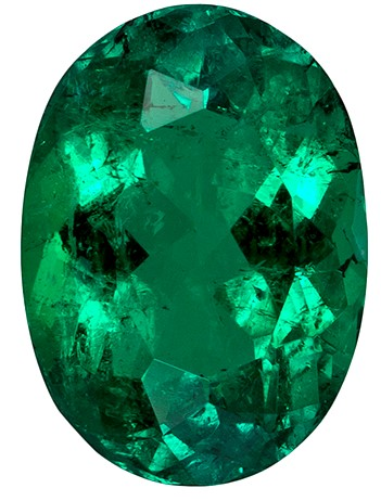 Real Vibrant Emerald Gemstone, Oval Cut, 1.7 carats, 9.2 x 6.6 mm , AfricaGems Certified - Truly Stunning
