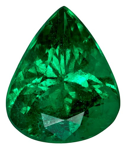 Chatham emerald pear shape 4x6 nice cut and color