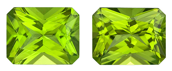 Real Vibrant Peridot Gemstone, Radiant Cut, 6.74 carats, 10 x 8 mm , AfricaGems Certified - A Magnificent Gem