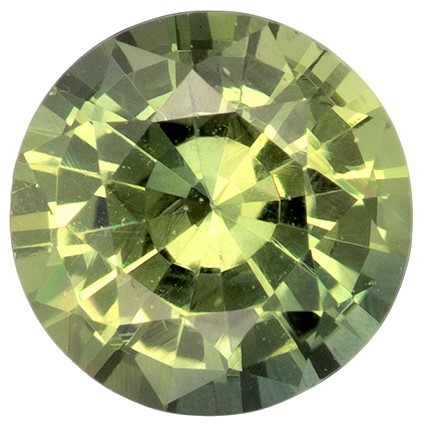 Real Green Sapphire Gemstone, Round Cut, 0.54 carats, 4.9 mm , AfricaGems Certified - Truly Stunning
