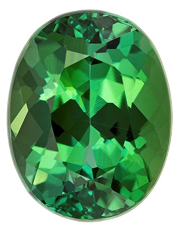 Real Green Tourmaline Gemstone, Oval Cut, 2.24 carats, 9.1 x 7.1 mm , AfricaGems Certified - A Hard to Find Gem