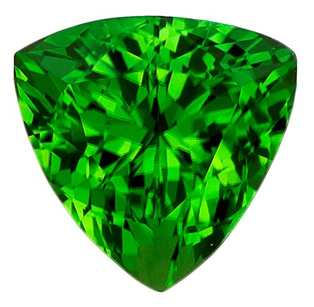 Real Chrome Tourmaline Gemstone, Trillion Cut, 1.12 carats, 6.6 mm , AfricaGems Certified - A Fine Gem