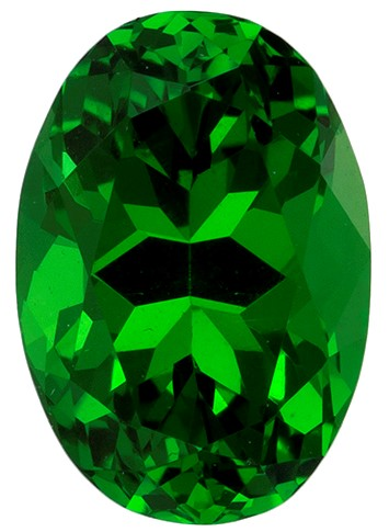 Real Vivid Tsavorite Gemstone, Oval Cut, 1.08 carats, 7.2 x 5 mm , AfricaGems Certified - A Great Buy