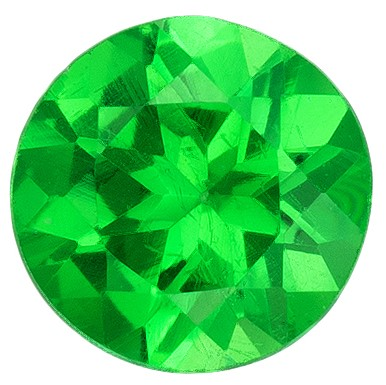 Real Vivid Tsavorite Gemstone, Round Cut, 0.29 carats, 4 mm , AfricaGems Certified - A Low Price