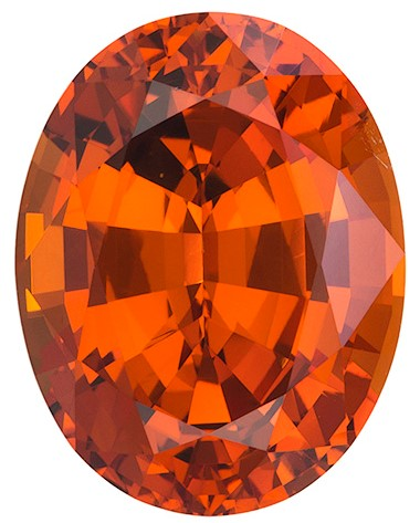 Real Orange Spessartite Gemstone, Oval Cut, 7.03 carats, 12.4 x 9.6 mm , AfricaGems Certified - A Magnificent Gem