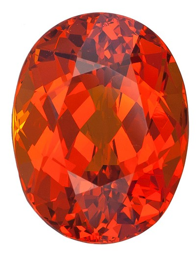 Real Orange Spessartite Gemstone, Oval Cut, 10.79 carats, 13.8 x 10.6 mm , AfricaGems Certified - A Low Price
