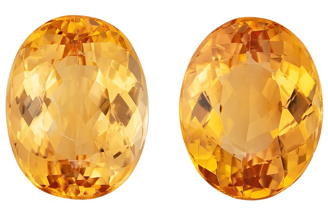 Real Precious Topaz Gemstones, Oval Cut, 5.01 carats, 9 x 7 mm Matching Pair, AfricaGems Certified - Great for Studs