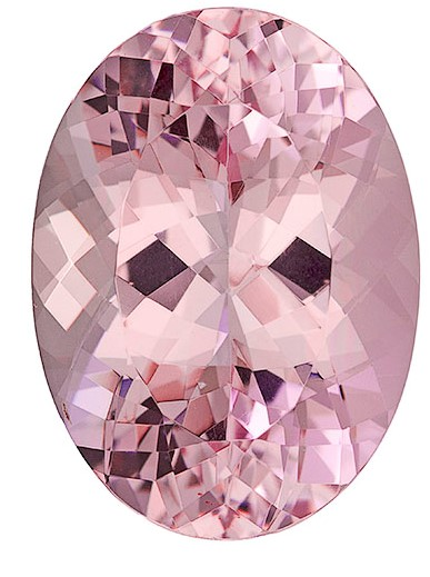 Real Pink Morganite Gemstone, Oval Cut, 12.31 carats, 17.9 x 13.1 mm , AfricaGems Certified - A Super Great Buy