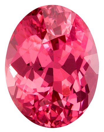 Real Pink Spinel Gemstone, Oval Cut, 1.13 carats, 6.9 x 5.3 mm , AfricaGems Certified - A Low Price