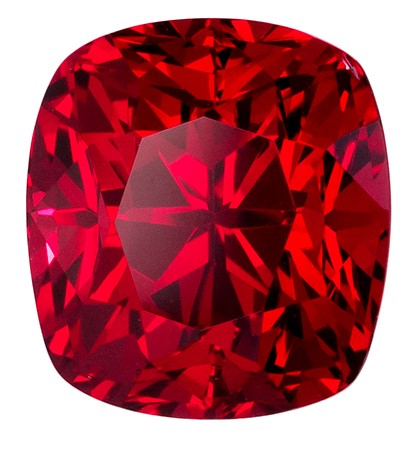 Exceptional Red Spinel Gemstone, Cushion Cut, 3.04 carats, 7.9 x 7.2 mm , AfricaGems Certified - A Great Colored Gem