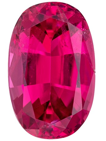 Real Red Tourmaline Gemstone, Oval Cut, 1.33 carats, 8.6 x 5.5 mm , AfricaGems Certified - A Hard to Find Gem