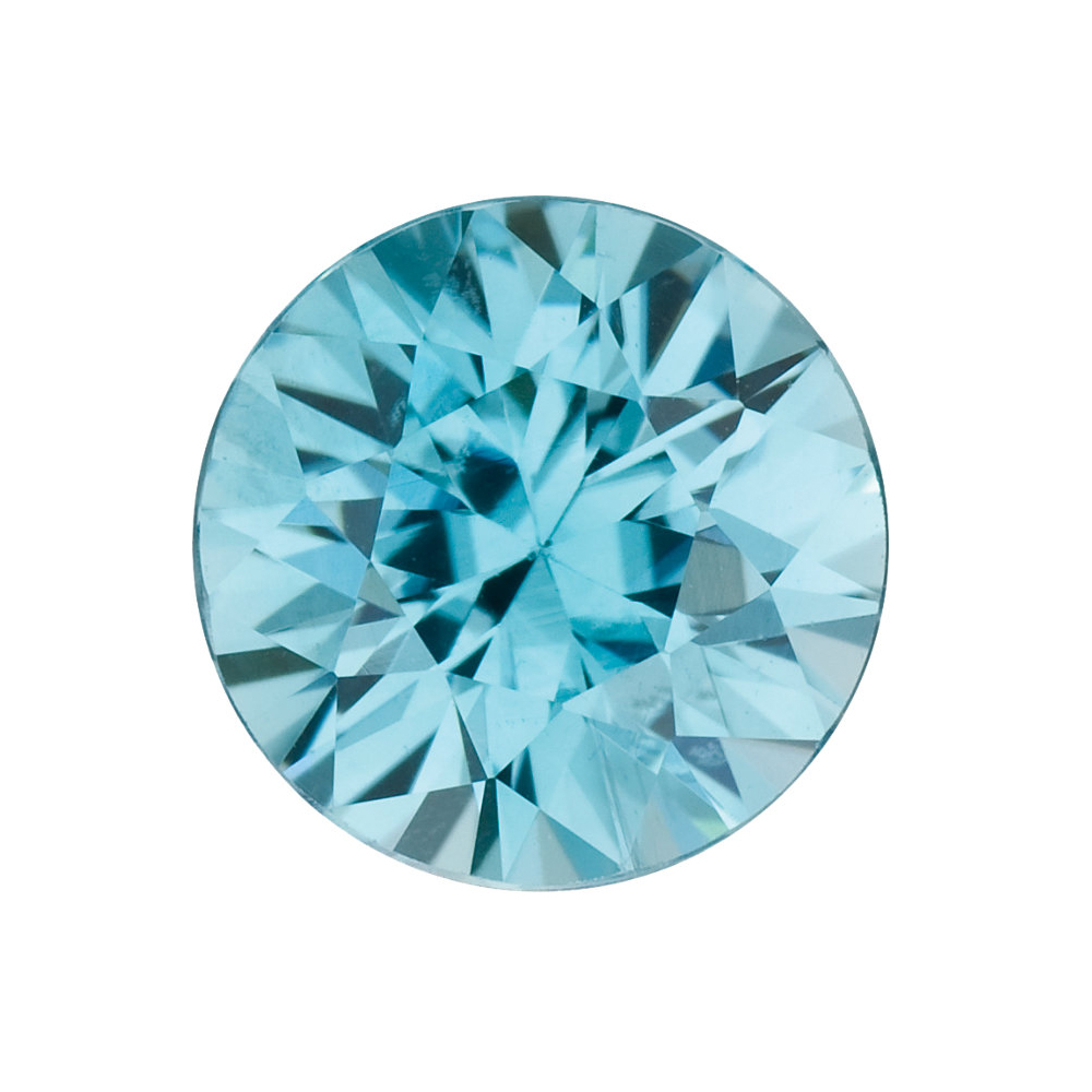 Genuine Gemstone Calibrated Size Loose Natural Round Shape Blue Zircon Gemstone Grade AA, 3.00 mm in Size,  0.17 Carats