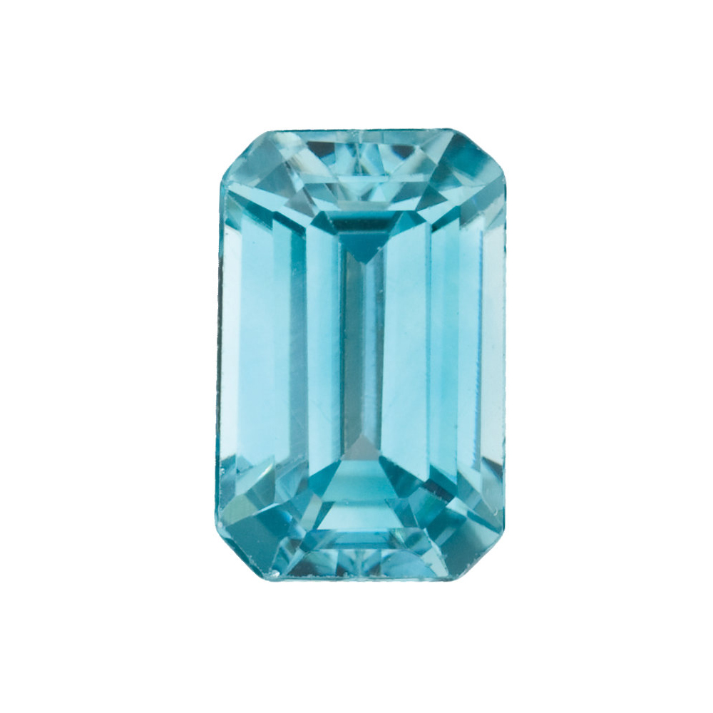 Real Top Quality Natural Emerald Shape Blue Zircon Gemstone Grade AA, 5.00 x 3.00 mm in Size,  0.45 Carats