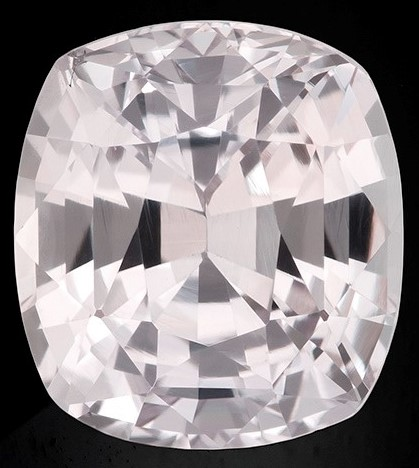 Real White Sapphire Gemstone, Cushion Cut, 3.69 carats, 8.87 x 8.08 x 5.98 mm , GIA Certified - A Wonderful Find!