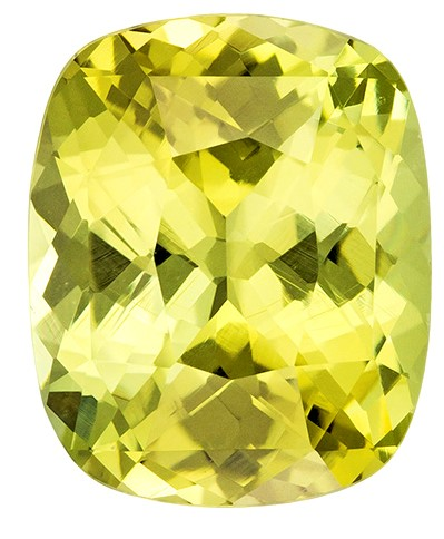 Real Yellow Chrysoberyl Gemstone, Cushion Cut, 3.31 carats, 9.8 x 8 mm , AfricaGems Certified - A Great Buy