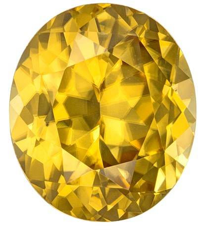 Real Yellow Zircon Gemstone, Oval Cut, 7.52 carats, 12.0 x 10.3 mm , AfricaGems Certified - A Beauty of A Gem