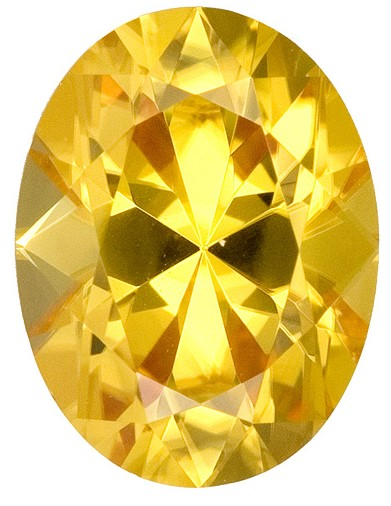 Real Yellow Zircon Gemstone, Oval Cut, 2.99 carats, 9.3 x 7.1 mm , AfricaGems Certified - A Deal