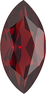 Red Garnet Gems in Marquise Cut in Grade AAA