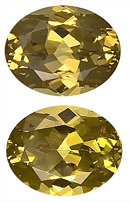 Remarkable Pair of Unheated Pretty Yellow Grossular Garnet Gemstones Oval Cut, 10 x 8 mm, 6.58 carats