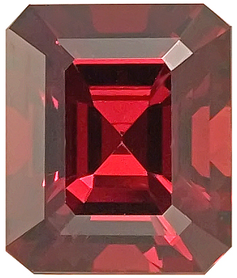 Remarkable Pinkish Orangey Red Rhodolte Garnet Unheated Gemstone ,Octagon Cut, 12.2 x 10.4 mm, 8.10 carats