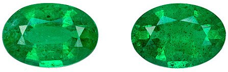 Remarkable Rich Green Color, Very Good Clarity Genuine Emerald Gem, Oval Cut, 0.93 carats