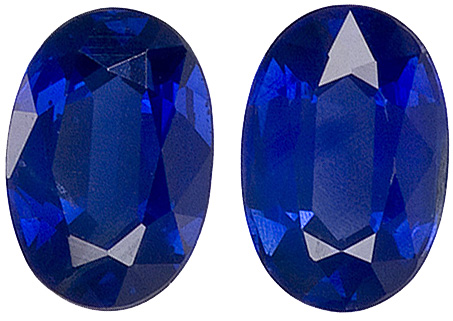 Rich Blue Colored Kanchan Sapphire Gem - Good Value, Oval Cut, 6 x 4 mm, 1.46 carats