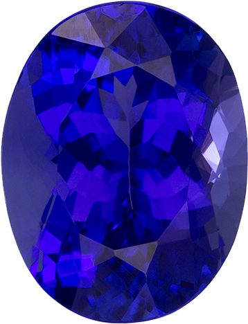 Rich Fiery Purple Blue Tanzanite Genuine Gem in Oval Cut, 10 x 7.6 mm, 2.82 Carats
