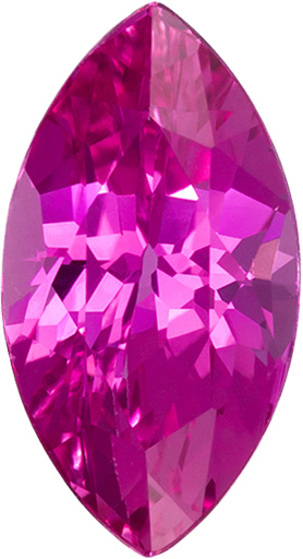 Rich Hot Pink Marquise Cut Pink Sapphire Loose Gemstone in 10.5 x 5.7 mm, 1.93 carats