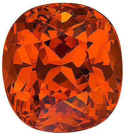 Rich Orange Nigerian Spessartite Stone for SALE! Cushion Cut, 6.18 carats