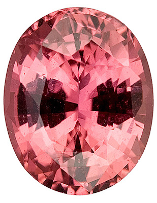 Rich, Peachy Salmon Sapphire Genuine Gemstone from Ceylon, Oval Cut, 2.75 carats