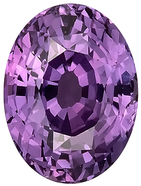 Rich Purple Sapphire Genuine Gemstone for SALE, Oval Cut, 2.17 carats