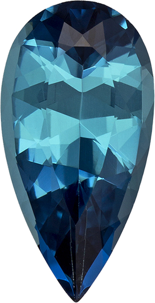 Rich Teal Rare Blue Tourmaline Gem in Pear Cut, 13.4 x 6.8 mm, 2.28 carats - SOLD