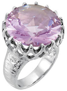 Rose De France Quartz Crown Design Ring