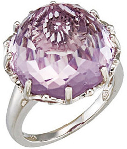 Rose De France Quartz Floral Ring