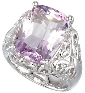 Rose De France Quartz Openwork Ring