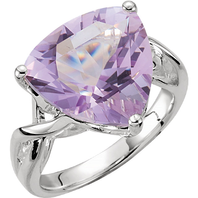 Eye Catchy Rose De France Quartz Ring