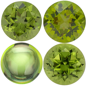 <B>Peridot Round Cut - Calibrated</b>