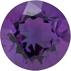 Round Cut Genuine Amethyst in Grade AA