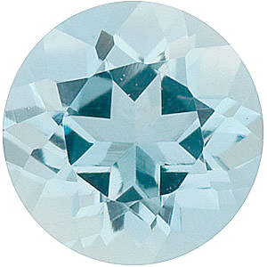 Round Cut Genuine Aquamarine in Grade A