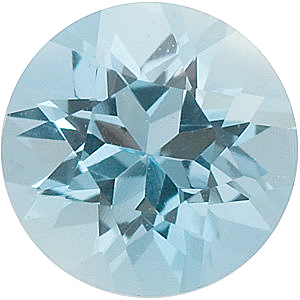 Round Cut Genuine Aquamarine in Grade AA