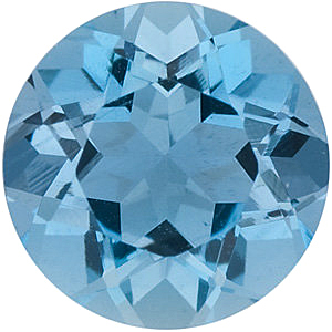 Round Cut Genuine Aquamarine in Grade AAA