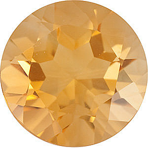 Round Cut Genuine Citrine in Grade A