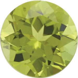 Round Cut Genuine Peridot in Grade AAA