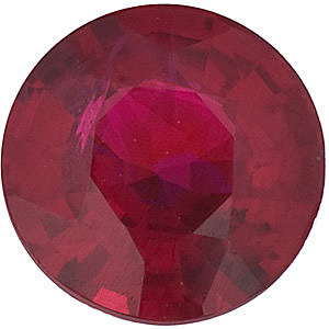 Round Cut Genuine Ruby in Grade AA