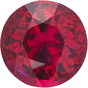 Round Cut Genuine Ruby  in Grade AAA