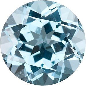 Round Cut Genuine Sky Blue Topaz in Grade AAA