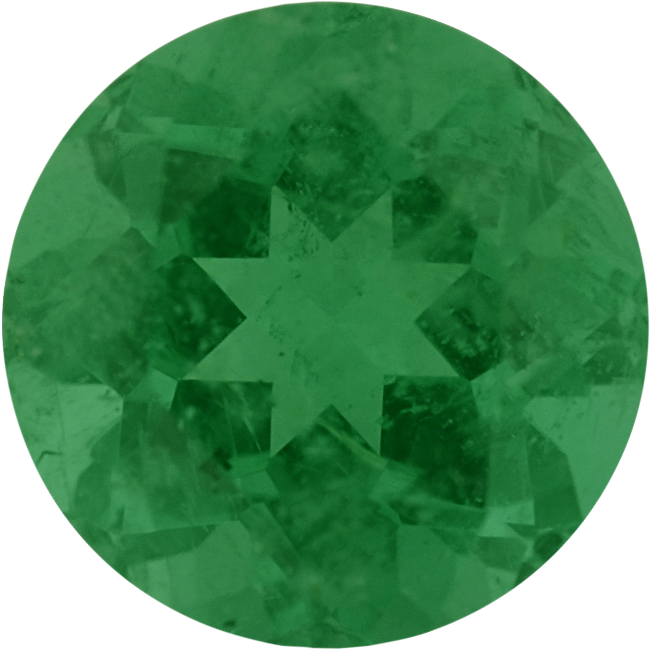 0.92 carats Emerald Loose Gemstone in Round Cut, 6.16 mm